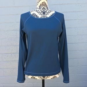 Lucy Blue Long-Sleeve Top